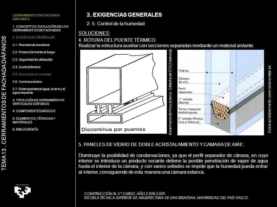 TEMA 13 . CERRAMIENTOS DE FACHADA DIÁFANOS