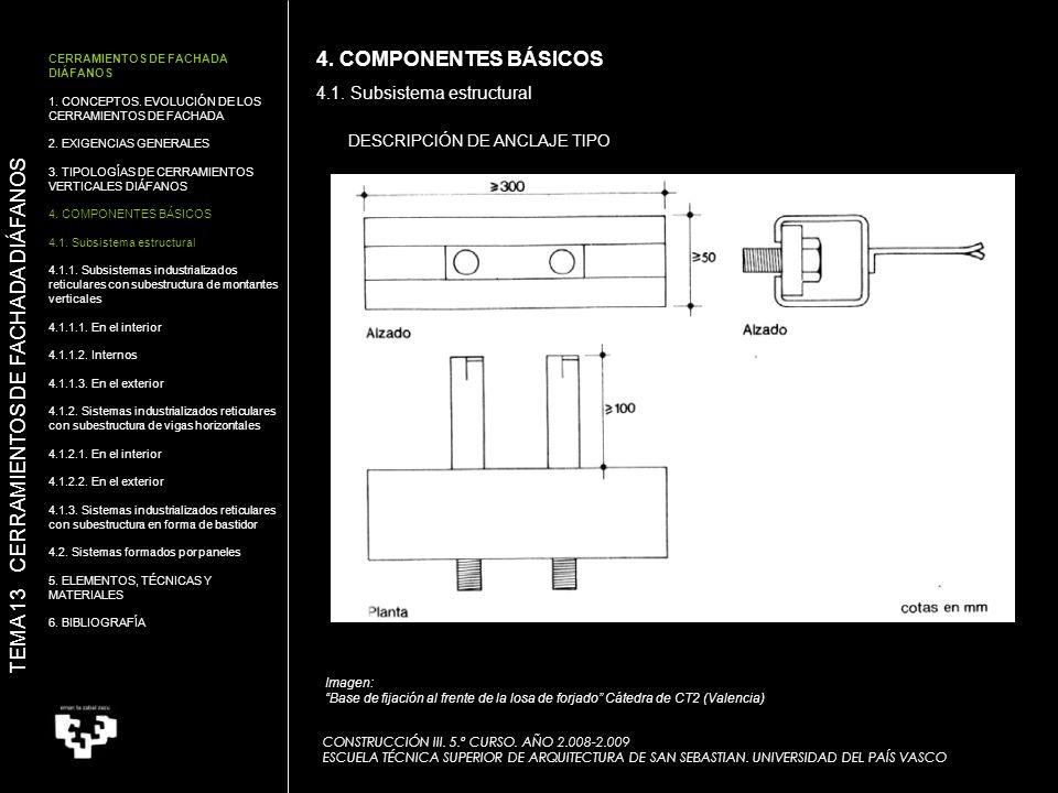 Tema 13 cerramientos de fachada di fanos ppt descargar - Escuela superior de arquitectura de san sebastian ...