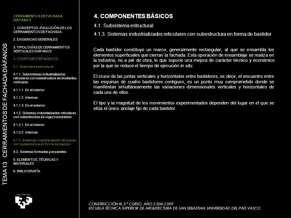 TEMA 13 CERRAMIENTOS DE FACHADA DIÁFANOS