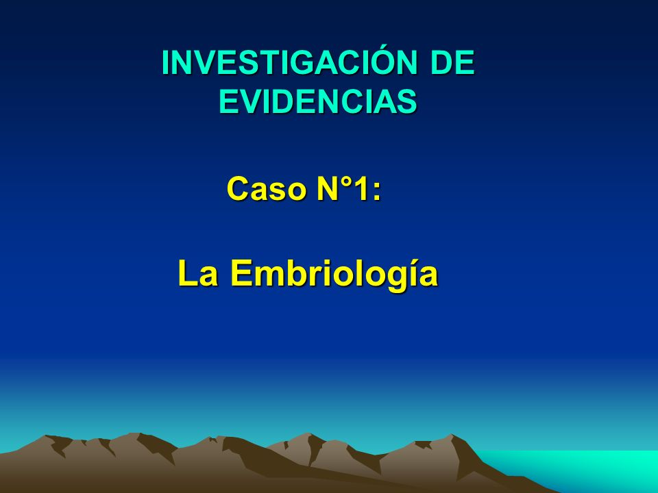 INVESTIGACIÓN DE EVIDENCIAS