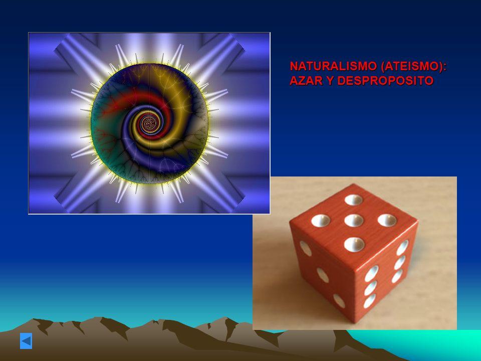 NATURALISMO (ATEISMO): AZAR Y DESPROPOSITO
