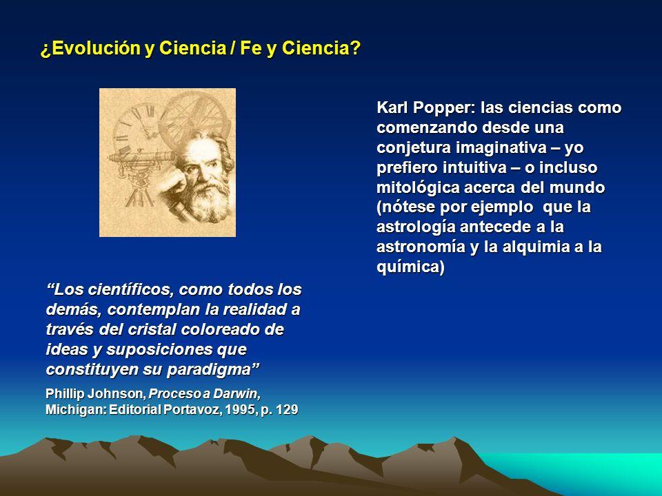 ¿Evolución y Ciencia / Fe y Ciencia