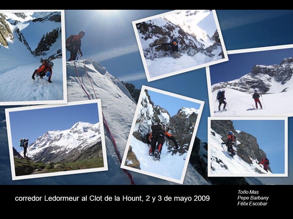 corredor Ledormeur al Clot de la Hount, 2 y 3 de mayo 2009