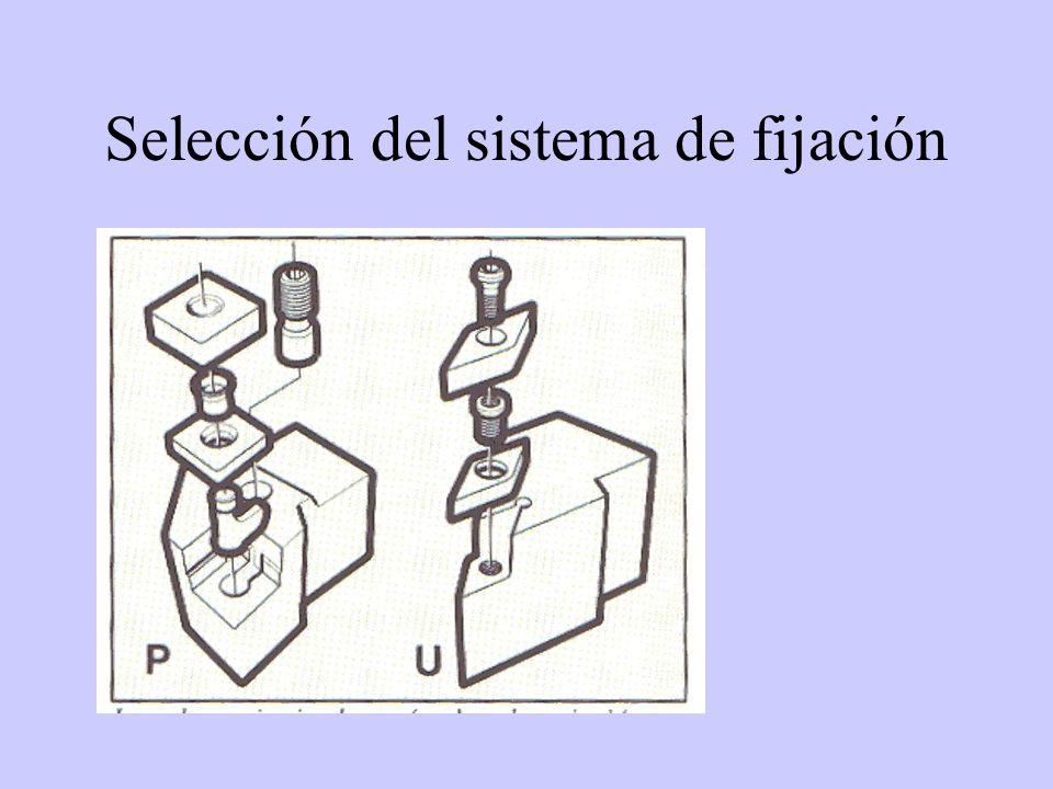 Selección del sistema de fijación