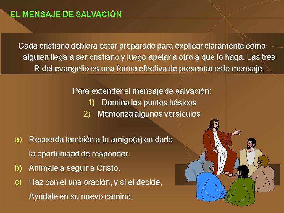 EL MENSAJE DE SALVACIÓN