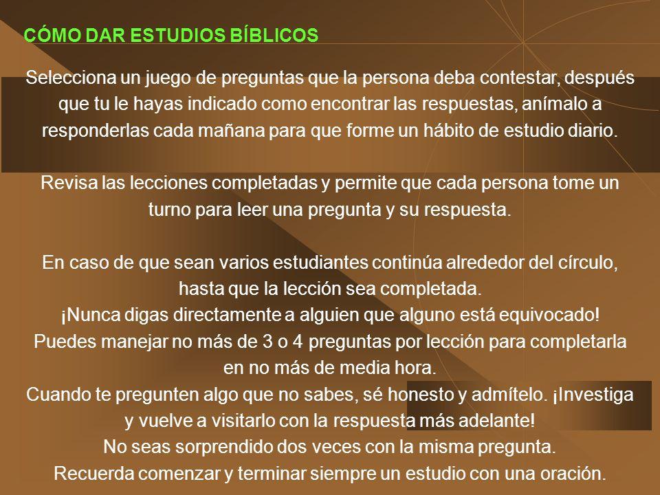CÓMO DAR ESTUDIOS BÍBLICOS