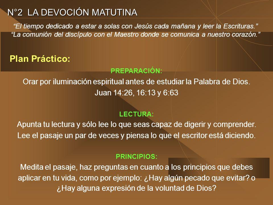 N°2 LA DEVOCIÓN MATUTINA