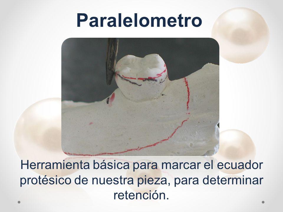 Paralelometro Herramienta básica para marcar el ecuador protésico de nuestra pieza, para determinar retención.