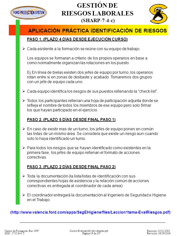 APLICACIÓN PRÁCTICA IDENTIFICACIÓN DE RIESGOS