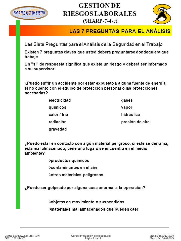 LAS 7 PREGUNTAS PARA EL ANÁLISIS
