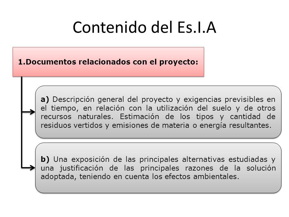 1.Documentos relacionados con el proyecto:
