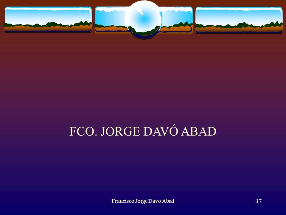 Francisco Jorge Davo Abad