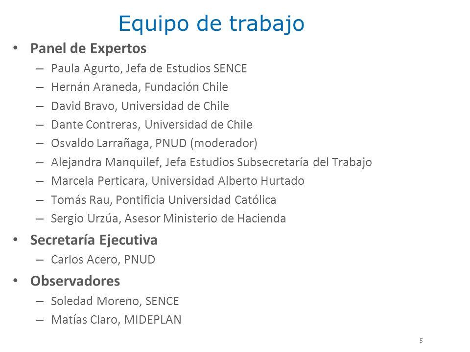 Equipo de trabajo Panel de Expertos Secretaría Ejecutiva Observadores