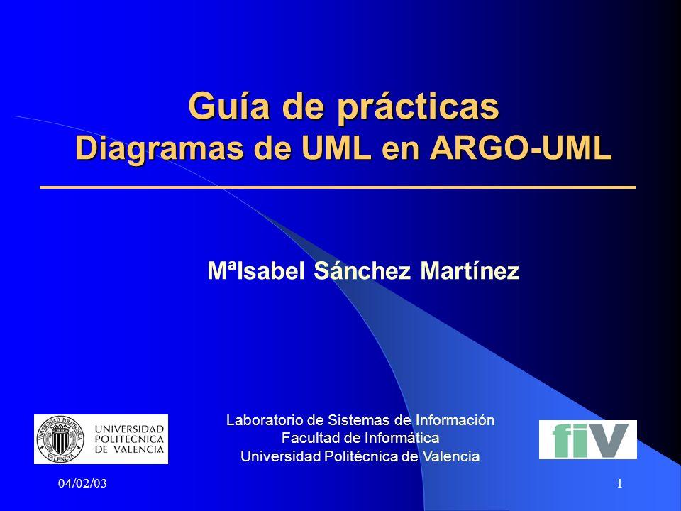Guía de prácticas Diagramas de UML en ARGO-UML