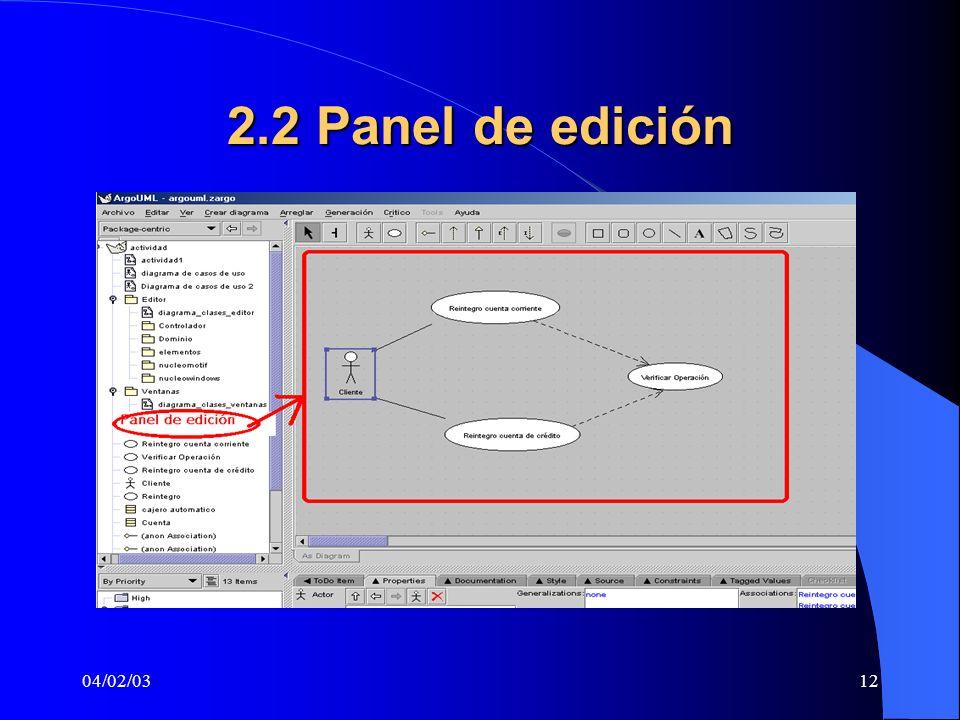 2.2 Panel de edición 04/02/03