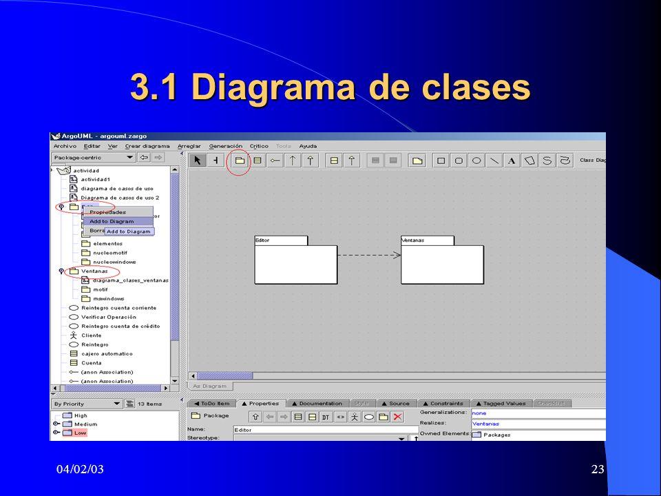 3.1 Diagrama de clases 04/02/03