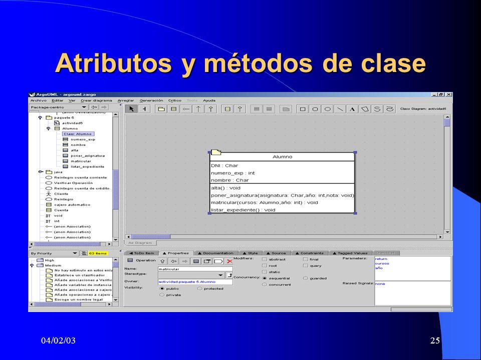 Atributos y métodos de clase