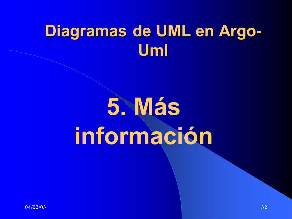 Diagramas de UML en Argo-Uml