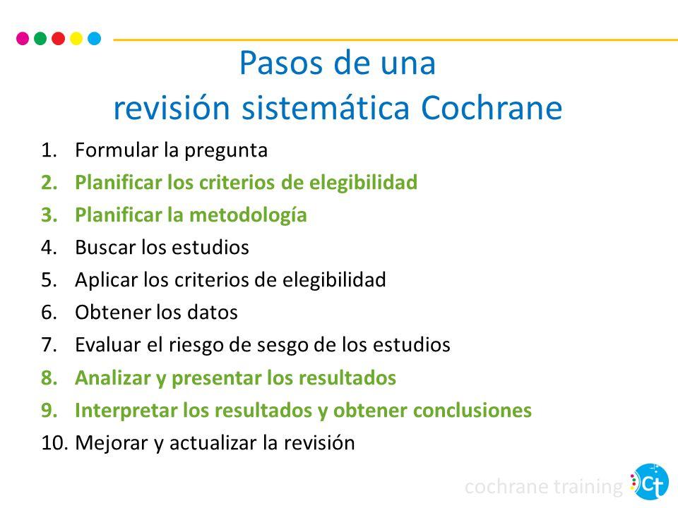 Pasos de una revisión sistemática Cochrane
