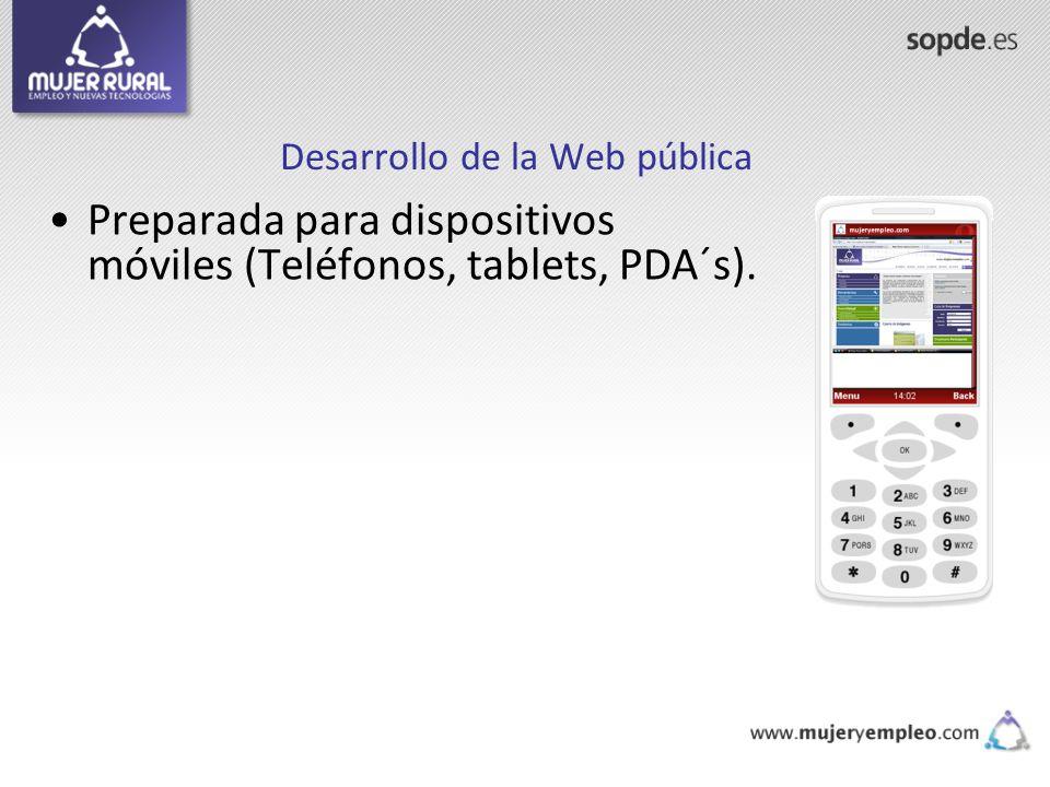 Desarrollo de la Web pública