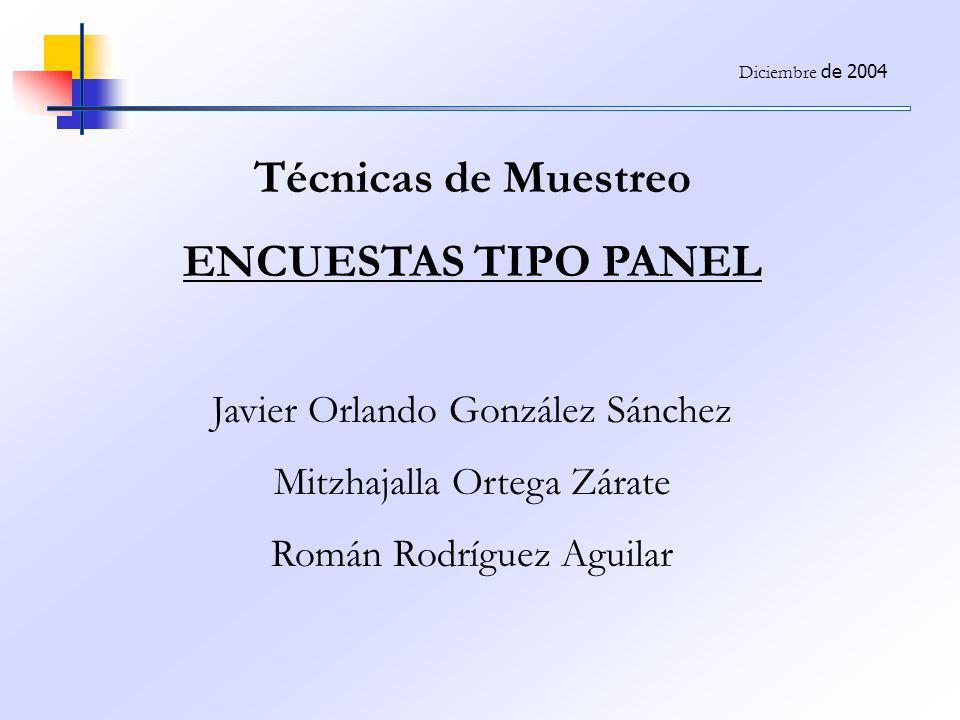 Técnicas de Muestreo ENCUESTAS TIPO PANEL