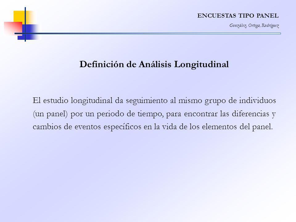 Definición de Análisis Longitudinal