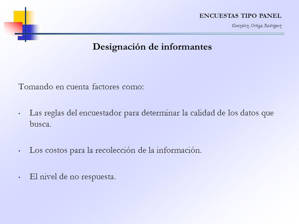 Designación de informantes