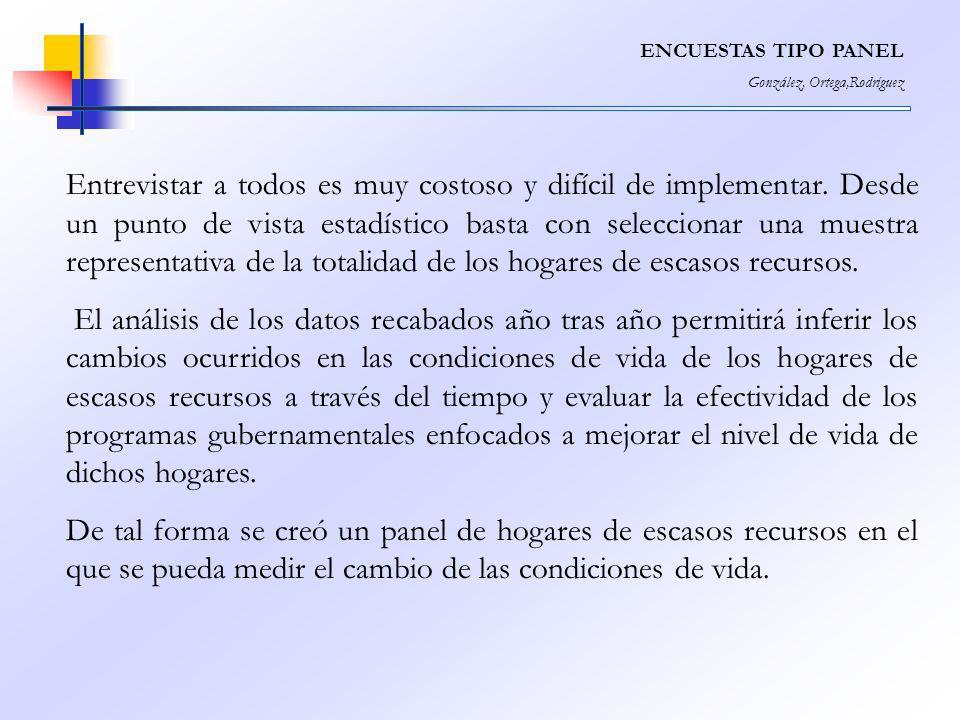 ENCUESTAS TIPO PANEL González, Ortega,Rodríguez.
