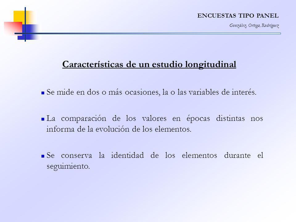 Características de un estudio longitudinal