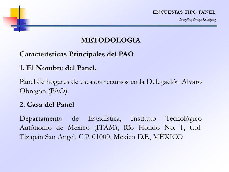 c METODOLOGIA Características Principales del PAO