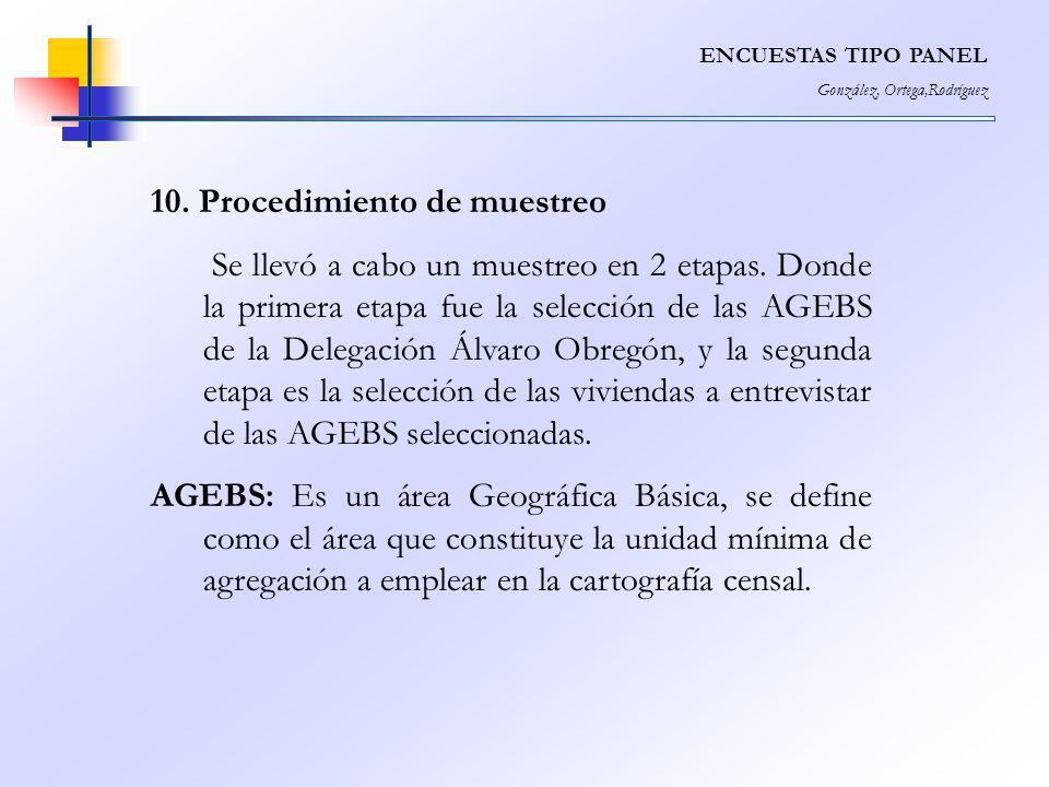 10. Procedimiento de muestreo