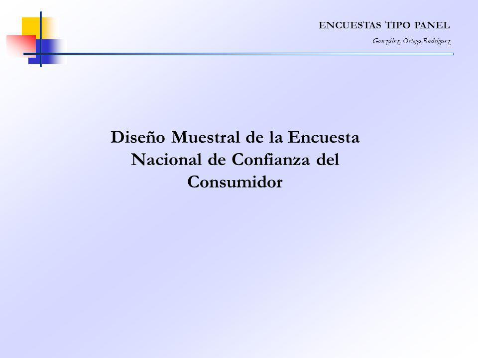 Diseño Muestral de la Encuesta Nacional de Confianza del Consumidor