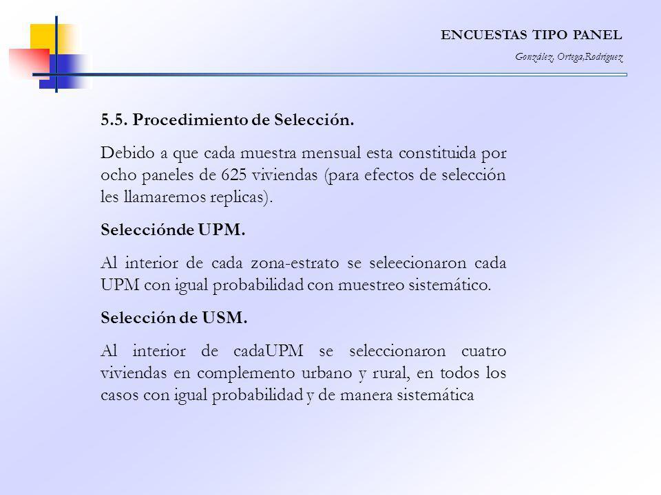 5.5. Procedimiento de Selección.