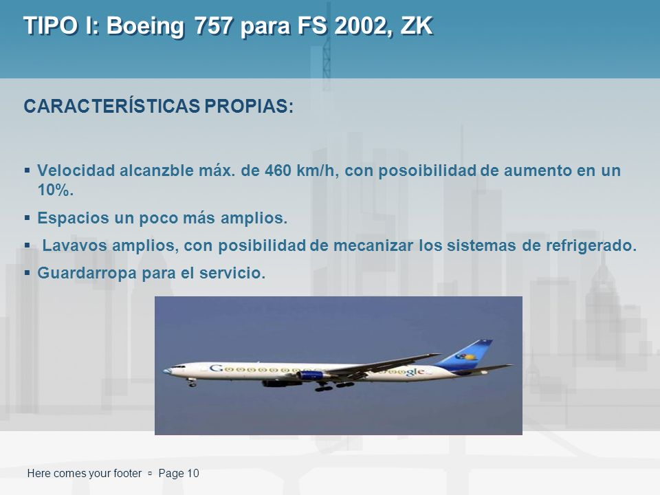 TIPO I: Boeing 757 para FS 2002, ZK