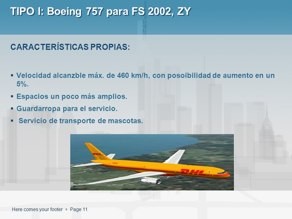 TIPO I: Boeing 757 para FS 2002, ZY