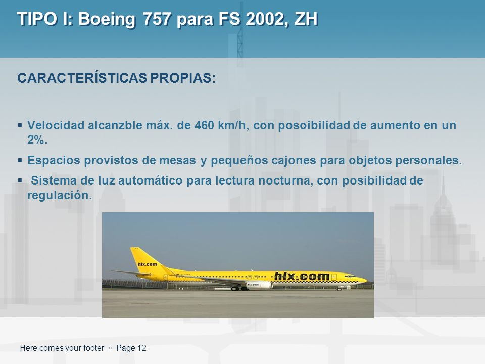 TIPO I: Boeing 757 para FS 2002, ZH