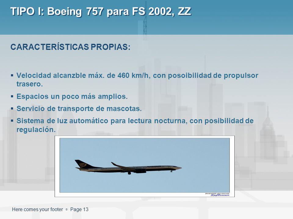 TIPO I: Boeing 757 para FS 2002, ZZ