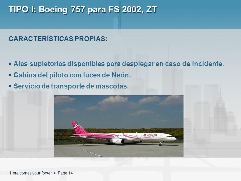 TIPO I: Boeing 757 para FS 2002, ZT