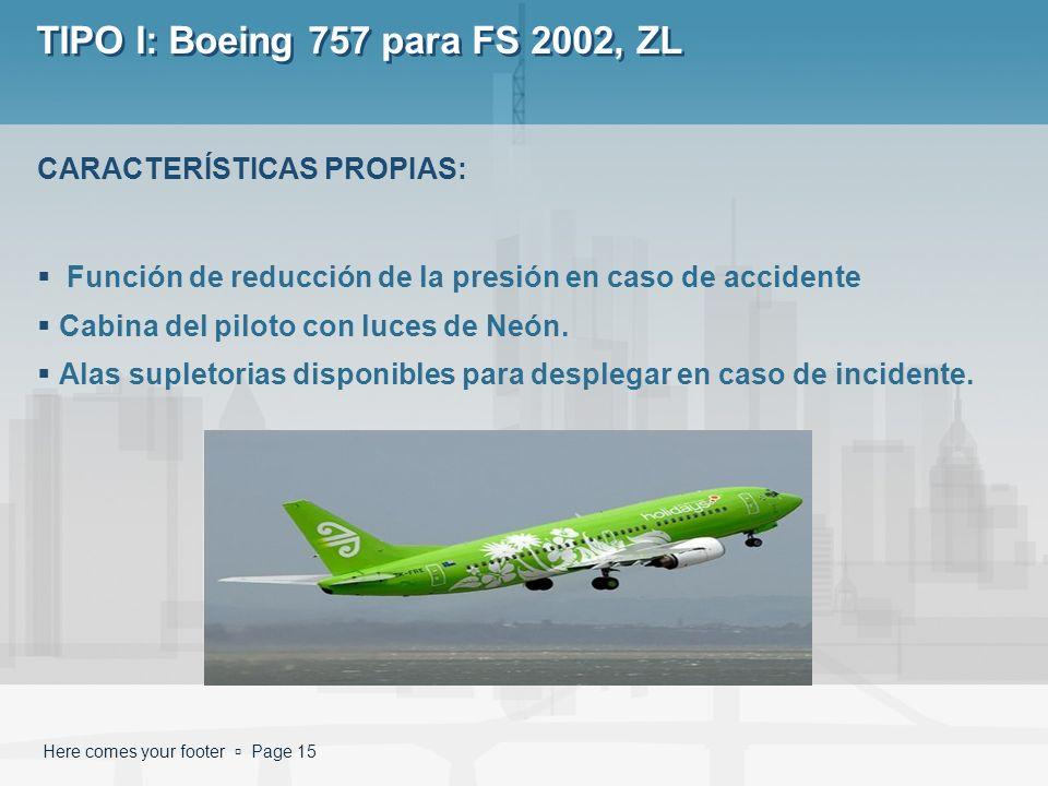 TIPO I: Boeing 757 para FS 2002, ZL