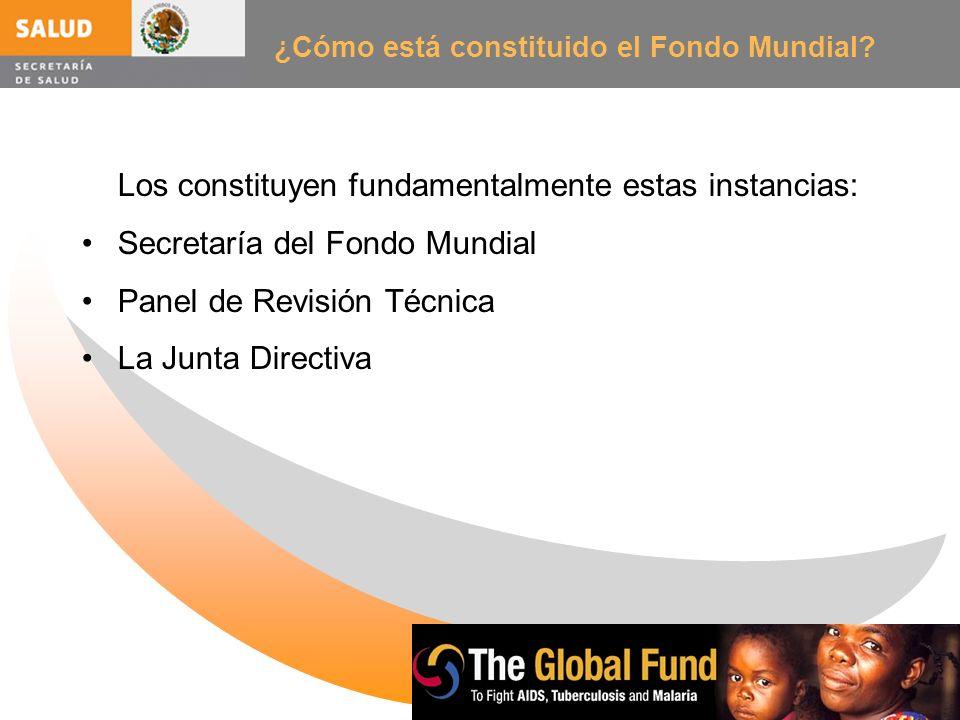 ¿Cómo está constituido el Fondo Mundial