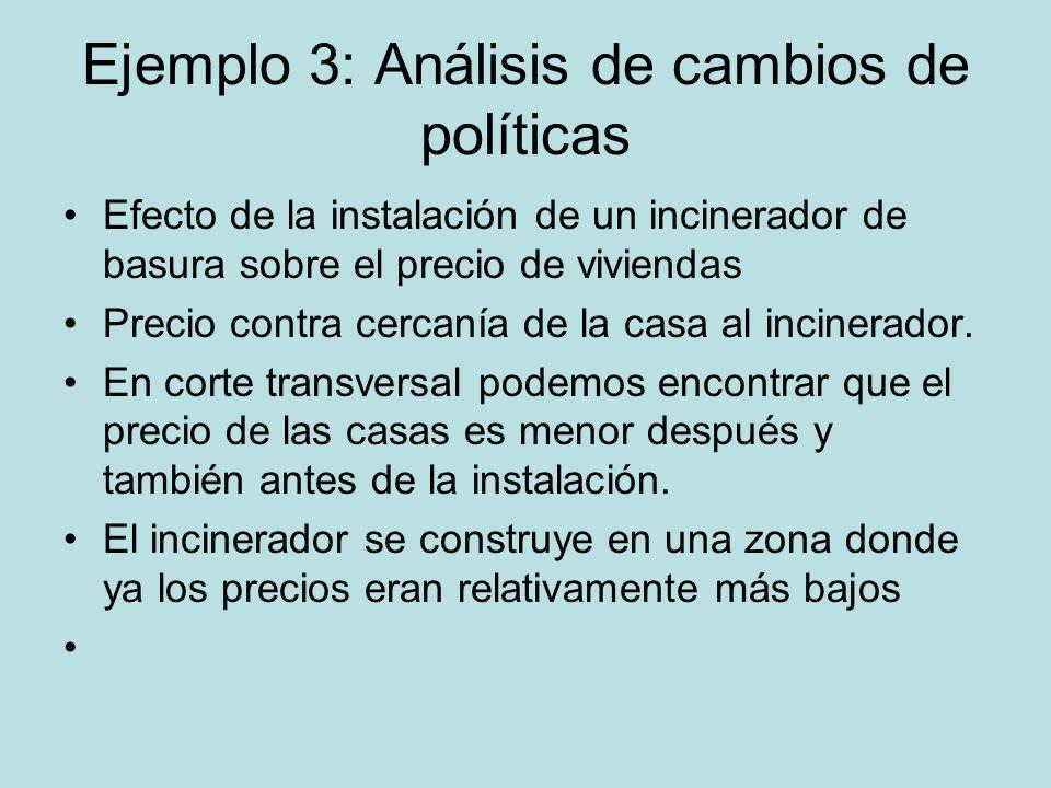 Ejemplo 3: Análisis de cambios de políticas