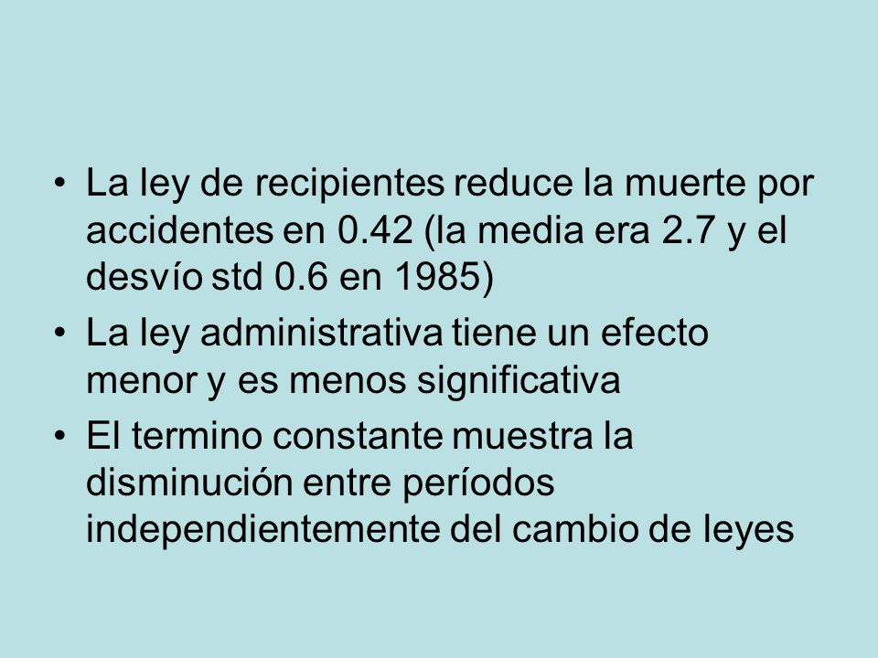 La ley de recipientes reduce la muerte por accidentes en 0