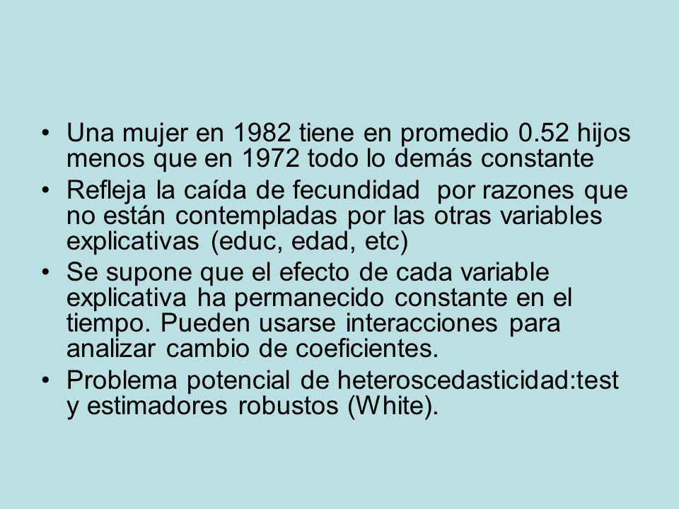 Una mujer en 1982 tiene en promedio 0