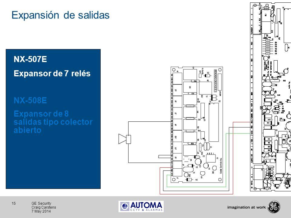 Expansión de salidas NX-507E Expansor de 7 relés NX-508E