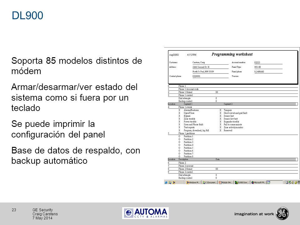 DL900 Soporta 85 modelos distintos de módem