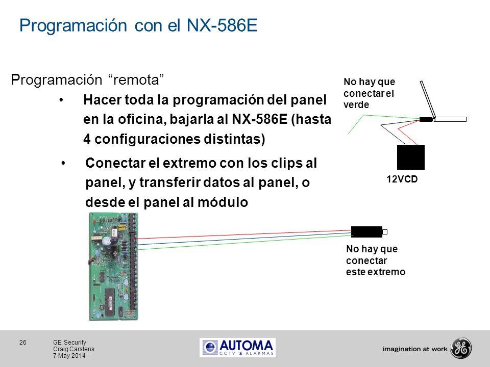 Programación con el NX-586E
