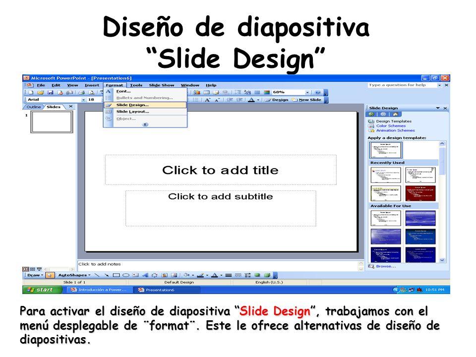 Diseño de diapositiva Slide Design