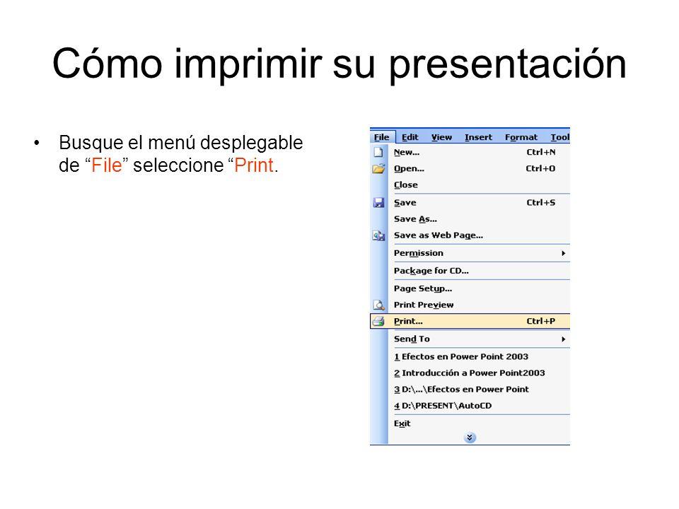 Cómo imprimir su presentación