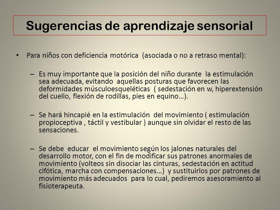 Sugerencias de aprendizaje sensorial