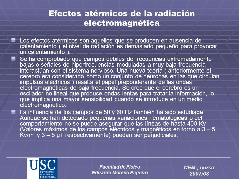 Efectos atérmicos de la radiación electromagnética